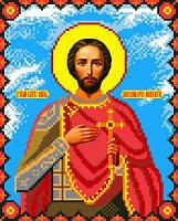 """Схема для вышивки крестом на канве Аида №16 """"Св. Кн. Александр Невский"""""""