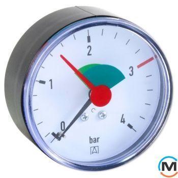 "Манометр аксиальный Afriso 63мм, 0-10 бар, соед. 1/4"", к.т. 2,5 тип RF пластиковый"