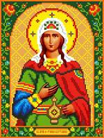 """Схема для вышивки крестом на канве Аида №16 """"Св. Муч. Фотина (Светлана)"""""""