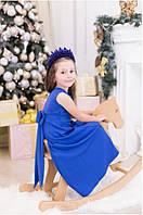 Платье детское с бантом электрик  ро4009
