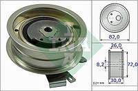 Ролик приводного ремня (натяжной, INA 531 0203 20, 30x82, 1.6-2.0) Skoda(Шкода) Superb(Суперб) B(В/Б)5 2001-2008(01-08)
