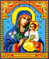 """Схема для вышивки крестом на канве Аида №16 """"Образ Пр. Богородицы Неувядаемый цвет"""""""