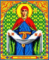 """Схема для вышивки крестом на канве Аида №16 """"Образ Покрова Пр. Богородицы"""""""