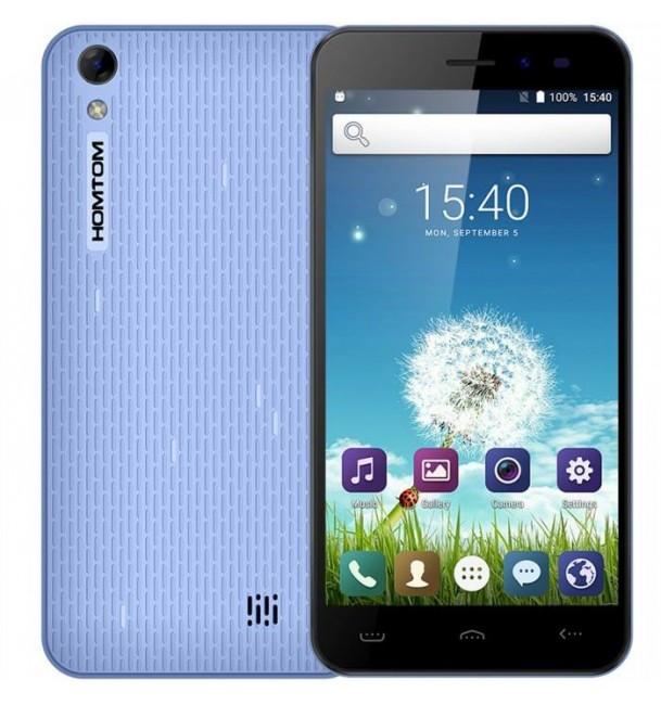 "Смартфон Homtom HT16 Blue, 1/8Gb, 2sim, 3G, экран 5"" IPS, 4 ядра, 8/5Мп, 3000мАч, GPS, Android 6.0"