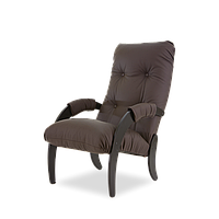 Кресло темный орех  материал экокожа