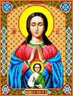 """Схема для вышивки крестом на канве Аида №16 """"Икона БМ Помощница в родах"""""""