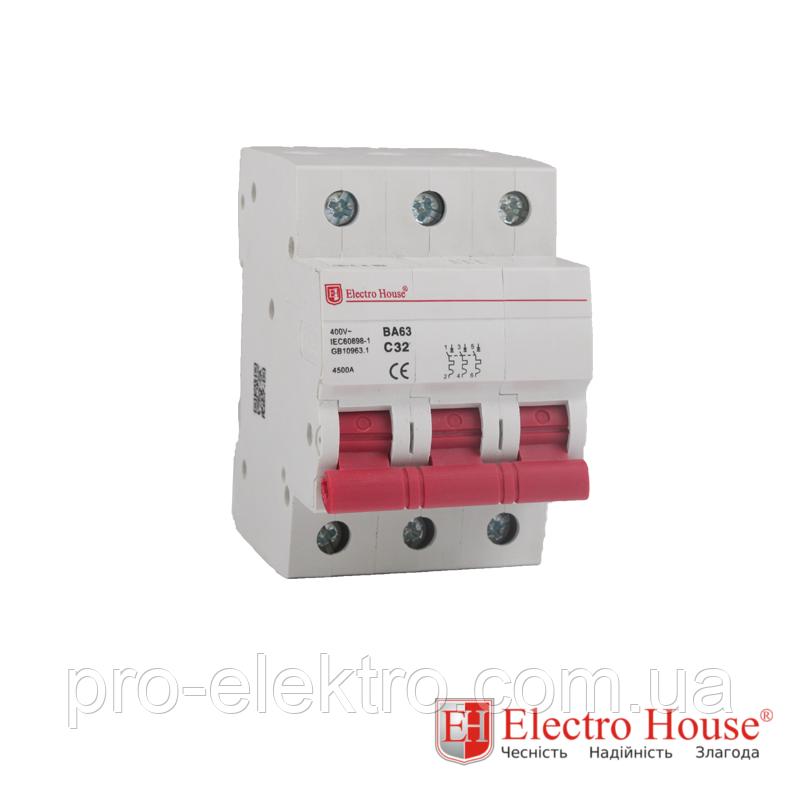 EH-3.100  Автоматический выключатель 3 полюса 100А