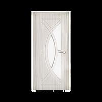 Межкомнатная дверь Неман Фантазия остеклённая 600 мм белая береза