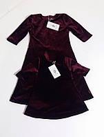 Платье  для девочки из бархата на кнопці Сукня для дівчинки з оксамиту з підкладкою