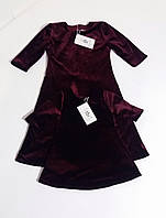 Платье  для девочки из бархата на кнопке Сукня для дівчинки з оксамиту