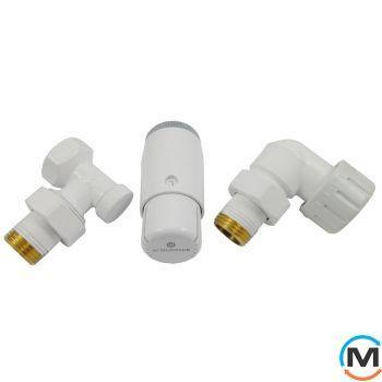 Комплект термостатический Schlosser standart mini, белый, осевой левый
