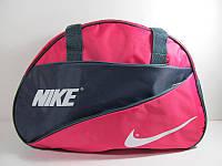 Сумка спортивная Nike, серо-розовая, размер Средний