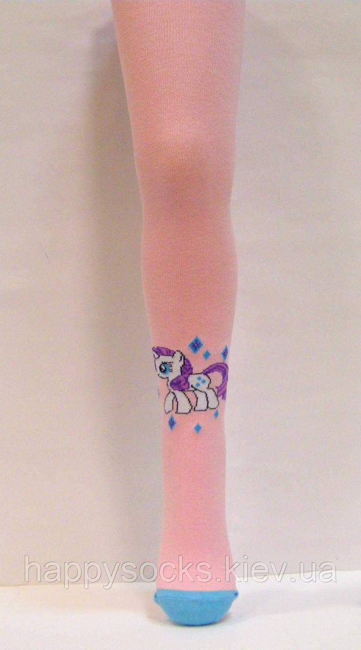Детские хлопковые колготки с пони Рарити