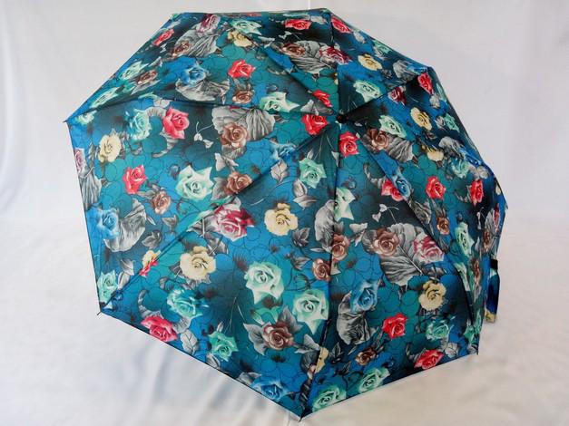 Зонт женский механика на 8 спиц рисунок  розы