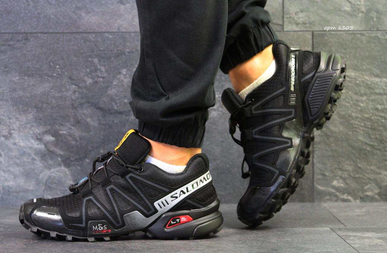 9d67a931d26a Купить Мужские кроссовки Salomon Speedcross 3 реплика, черные с ...