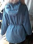 Теплая женская куртка джинс, фото 3
