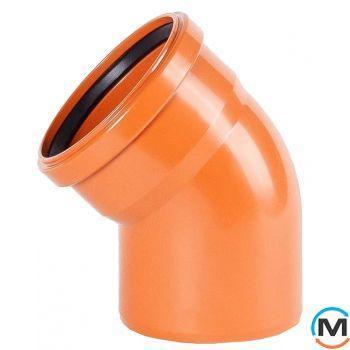 Колено канализационное Magnaplast KG 110/45