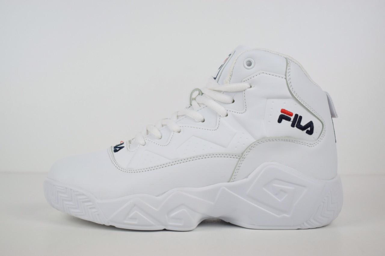 Зимние женские кроссовки Fila высокие белые 3199  продажа, цена в ... 6ee548e8b1a