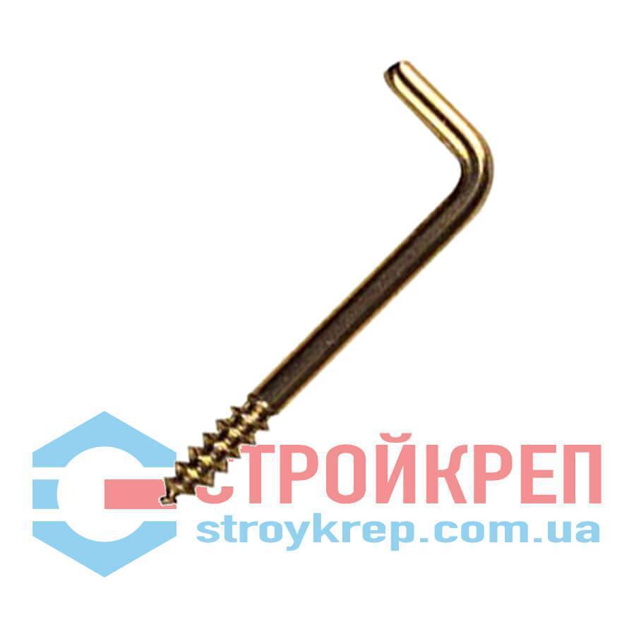 Шуруп-крюк Г-образный, цинк, 5,5х60
