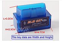 Беспроводной диагностический сканер для авто ELM327 Bluetooth OBD2 V2.1, фото 1