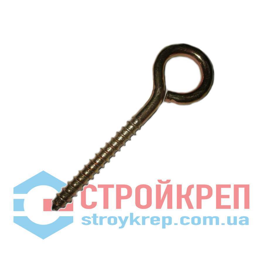 Шуруп-кольцо О-образный, цинк, 4,0х62
