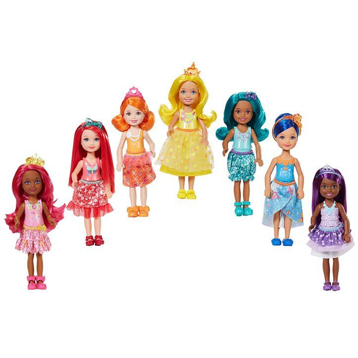 Игровой набор Барби 7 кукол челси Дримтопия / Barbie Rainbow Cove 7 Doll Gift Set