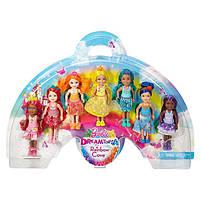 Игровой набор Барби 7 кукол челси Дримтопия / Barbie Rainbow Cove 7 Doll Gift Set, фото 2