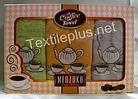 Полотенца махровые кухонные - Merzuka - Coffee - 6 шт. - 30*50 - 100% хлопок - Турция - (kod1595)