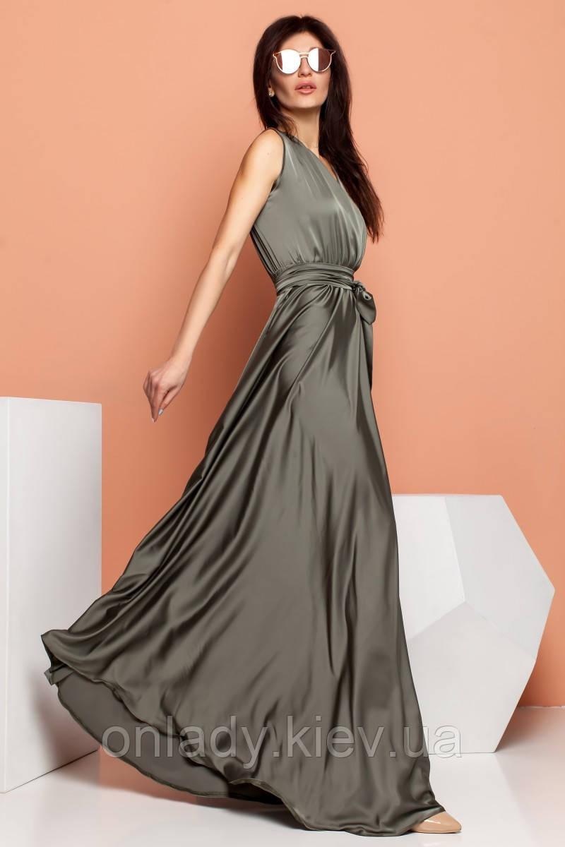 3ecc193ff2eef80 Длинное шелковое платье без рукавов (S, M), цена 1 749 грн., купить ...
