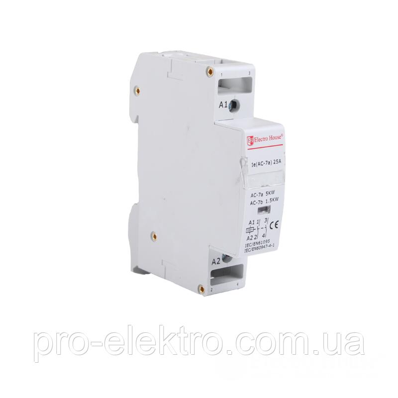 Контактор модульный EH-MK-21 25A 230V 2 нормально открытых контакта