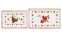 Набор (3 шт) фарфоровых тарелочек Merry Christmas
