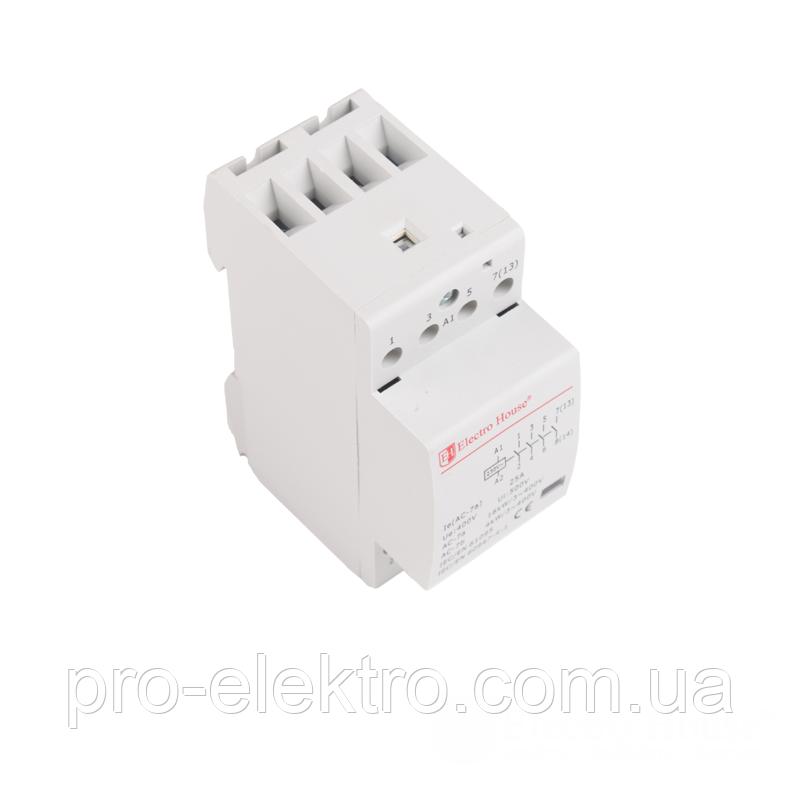 Контактор модульный EH-MK-22 25A 230V 4 нормально открытых контакта