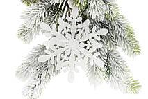 Набор декоративных снежинок 15см, 4 шт, цвет - белый