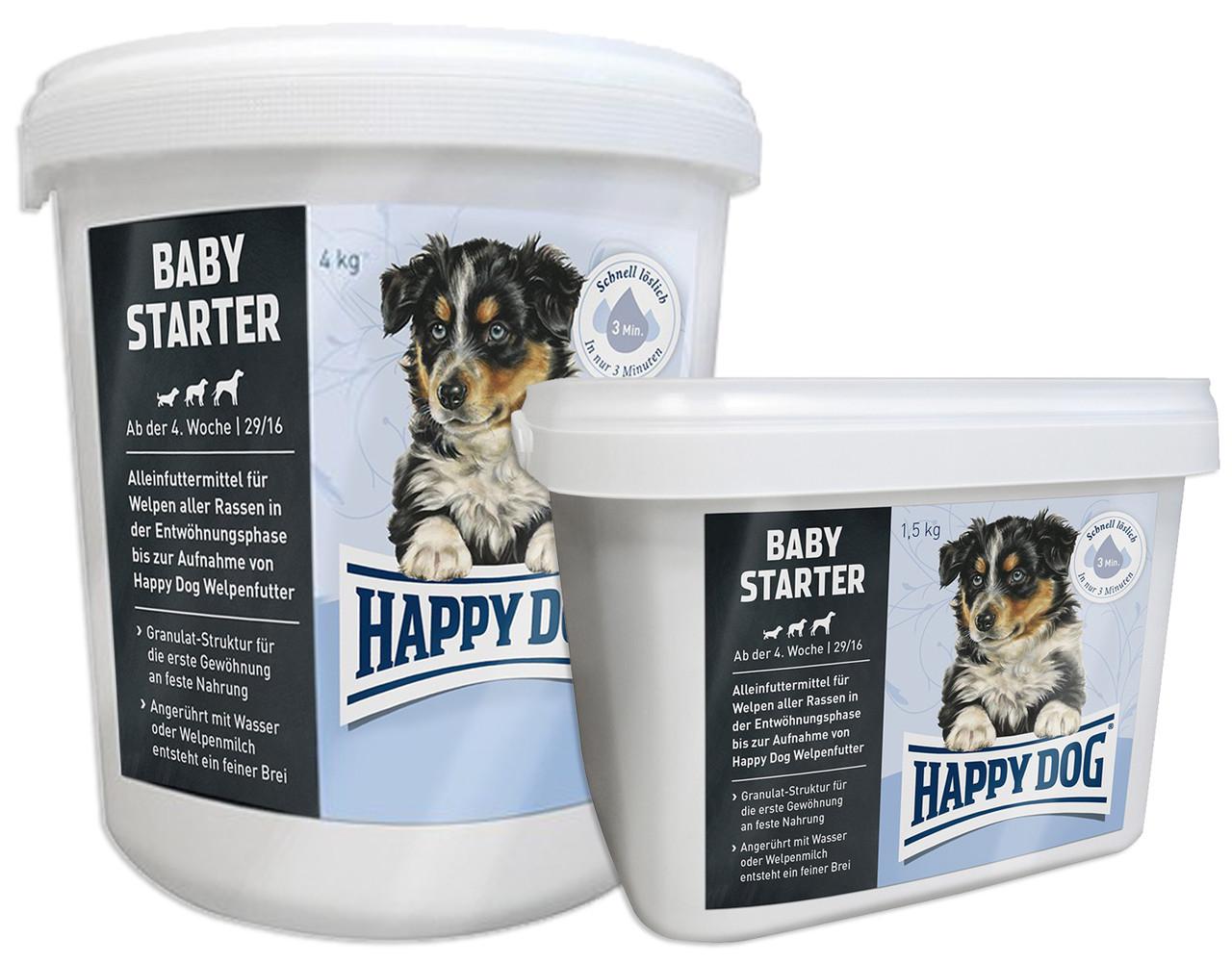 Happy Dog BABY STARTER - первый твердый корм для щенков, 4 кг