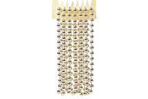 Бусы пластиковые, цвет - светлое золото, 10мм*2.7м