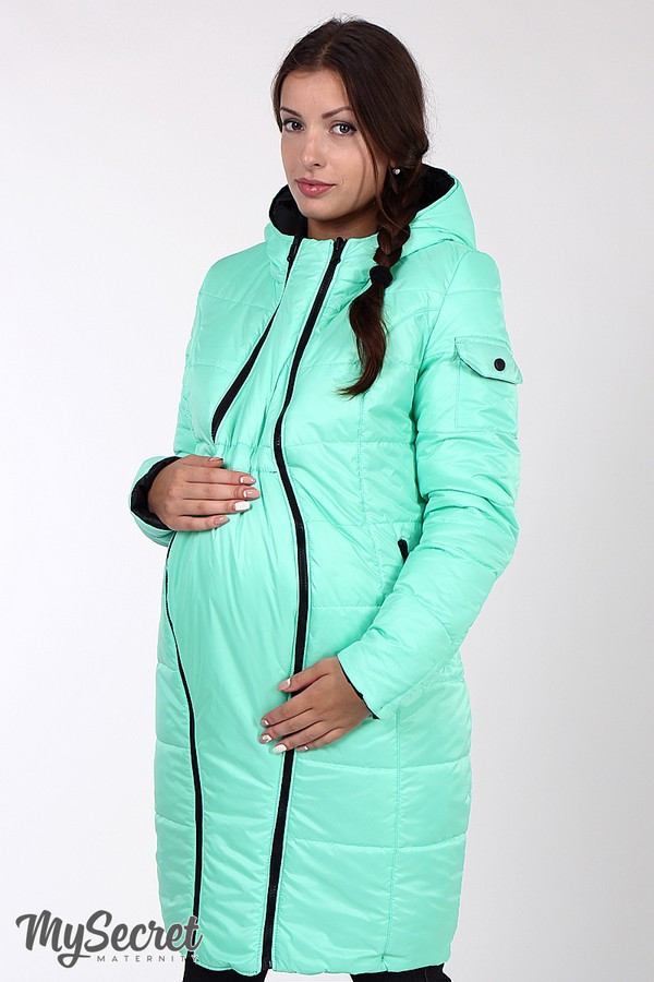 Зимнее теплое пальто для беременных на силиконе размеры S, M, L, XL, 2XL, ALL