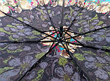 Зонт жіночий механіка на 8 спиць в коричневих відтінках, фото 2