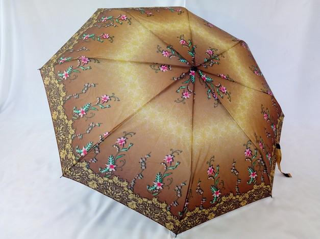 Зонт жіночий механіка на 8 спиць в коричневих відтінках