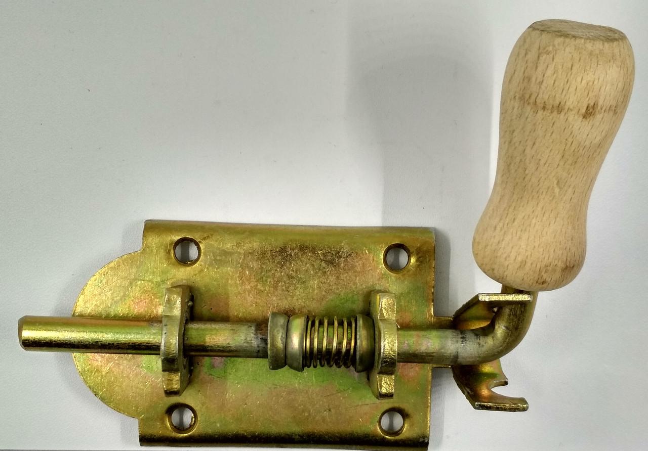 Пружинный дверной засов 100 мм