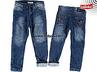 Утепленные джинсы  для мальчика 4-5 лет