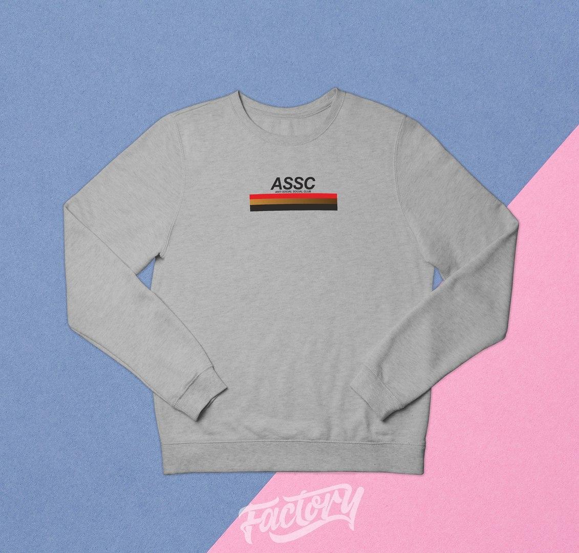 Свитшот ASSC Grey топ реплика