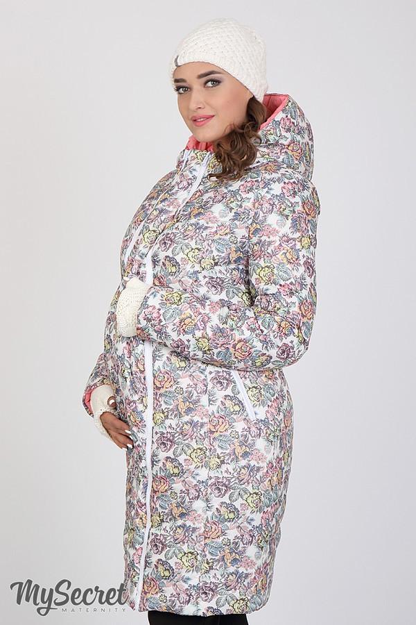 Зимнее теплое пальто для беременных на силиконе размеры S, M, L, XL, ALL
