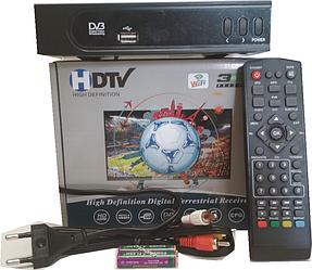 Тюнер Т2 приставка Set TOP Box HD в металле, дисплей, кнопки, 1 USB, КРУПНЫЙ ШРИФТ
