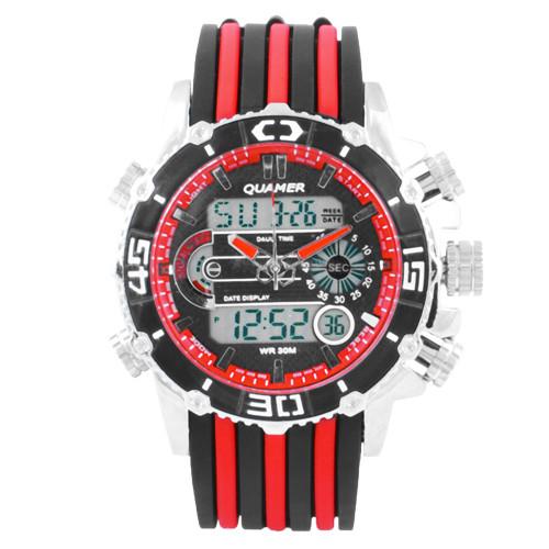 Наручний годинник Quamer 1320 ремінець, електронні годинники наручні