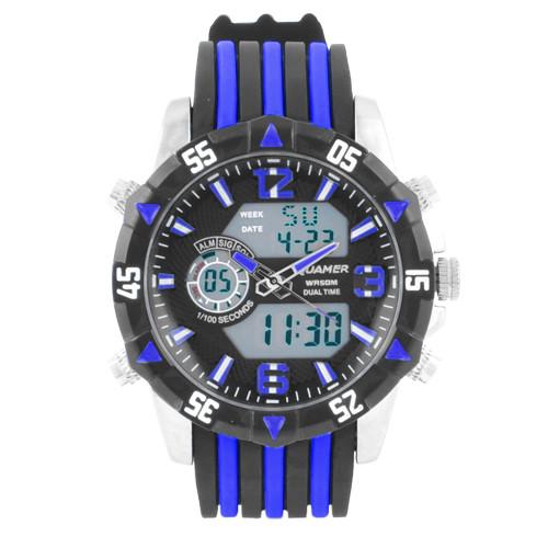 Наручний годинник Quamer 1508 ремінець, електронні годинники наручні