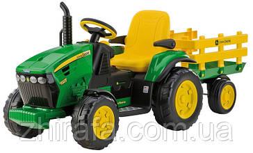 Трактор электромобиль с прицепом  Peg-Perego John Deere Ground Force
