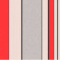 """Обои виниловые """"Лютиция, полоса"""" универсальные, бежевые с красным, 0,53 Х 10 – Крокус 11050"""