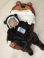 """Зимний набор на выписку и прогулок в коляске  """"Бурый медведь"""", фото 1"""