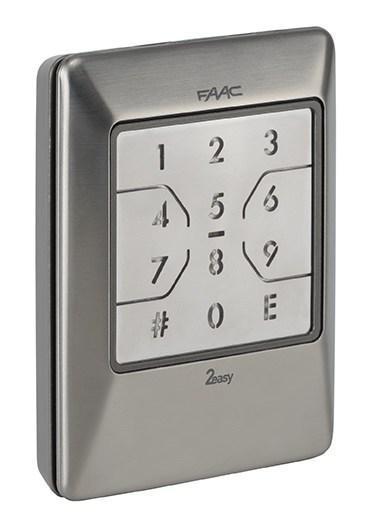 FAAC XKPW INOX клавиатура с подключением к шине (нержавеющая сталь)