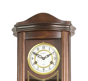 Деревянные настенные часы Castel 63 маятником и боем, цвет орех, фото 3
